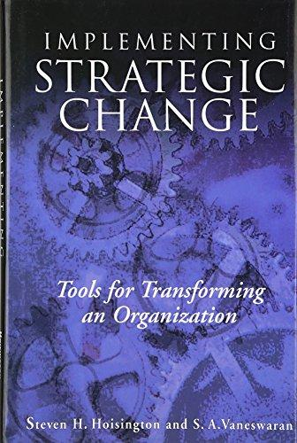 Implementing Strategic Change Tools For Transforming An Organization