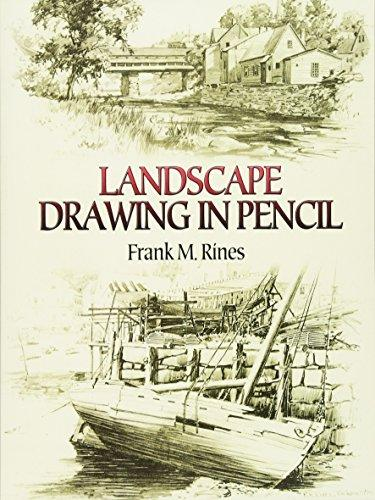 RINES - LANDSCAPE DRAWING IN PENCIL