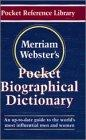 Memmiam Websters Pocket Biographical Dictionary