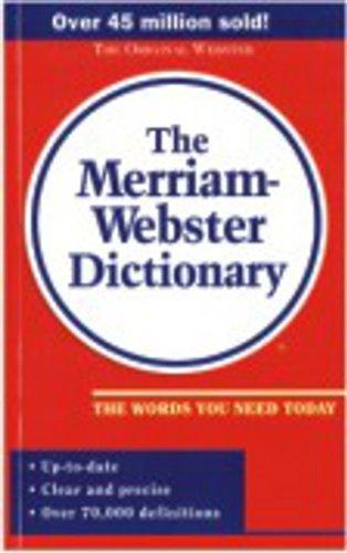 Merriam-Webster  Pocket Dictionary