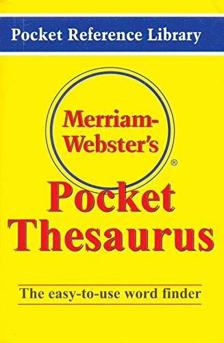 Marriam-Webster`S Pocket Thesaurus Mini