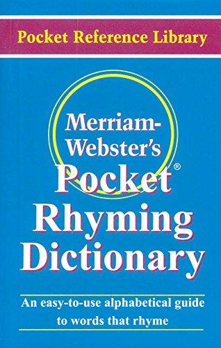 Merriam-Webster�S Mini Pocket Rhyming Dictionary
