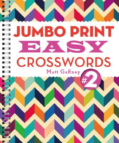 Jumbo Print Easy Crosswords #