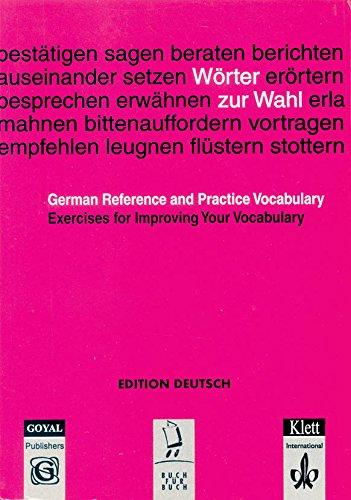 Worter Zu Wahl - German Reference And Practice Vocabulary
