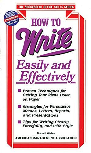 How To Write Easily And Effectively